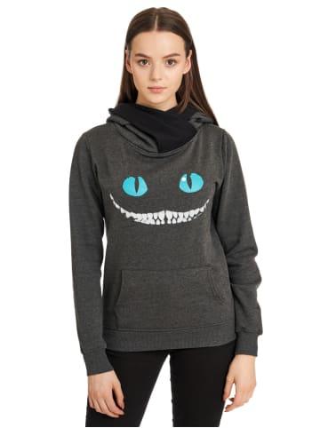 Disney Alice in Wonderland  Schalkragenpullover Smile in grau/schwarz