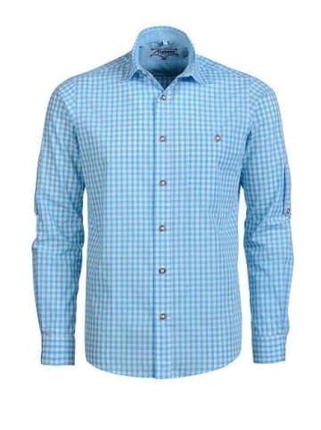 Alphorn Trachtenhemd in blau