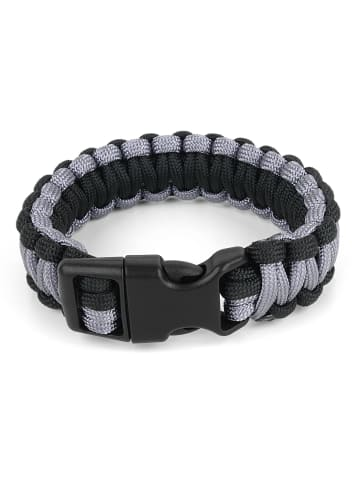Normani Survival-Armband Paracord 17 mm Small in Schwarz/Grau