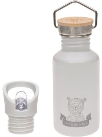 Lässig Edelstahl Isolier-Trinkflasche Adventure grau, 500 ml, inkl. 2 Verschlüssen