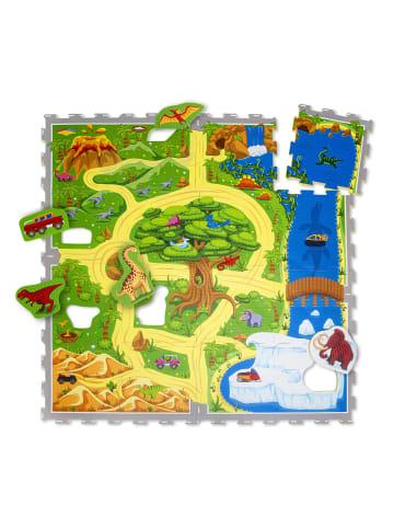 "Hakuna Matte Puzzlematte ""Dinosaurier Safari"" in Bunt - 1,2m x 1,2m"
