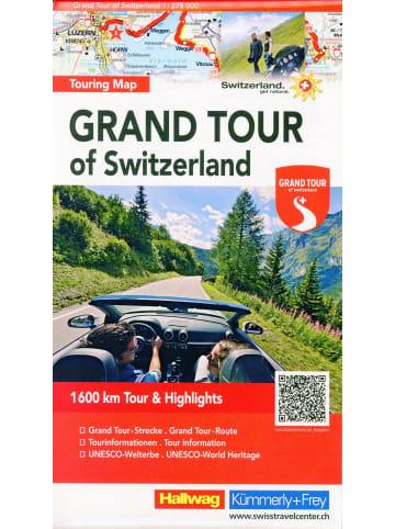 Hallwag-Verlag Grand Tour of Switzerland 1 : 275 000 Touring Map