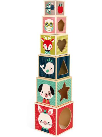 """JANOD Stapelpyramide mit 6 Würfeln """"Baby Forest"""""""