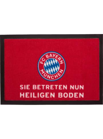 FC Bayern Fußmatte , Heiliger Boden, rot, 40 x 60 cm