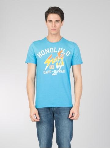 Colin's T Shirt mit modischem Front Druck in blue