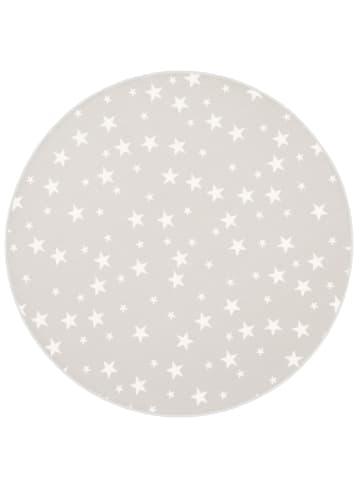 Snapstyle Kinder Spiel Teppich Sterne Rund in Grau