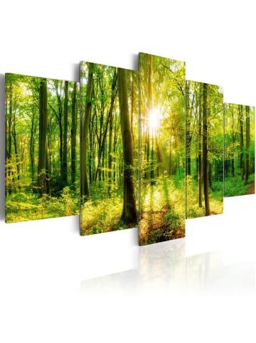 Artgeist Wandbild Forest Tale in Braun,Grün,Gelb