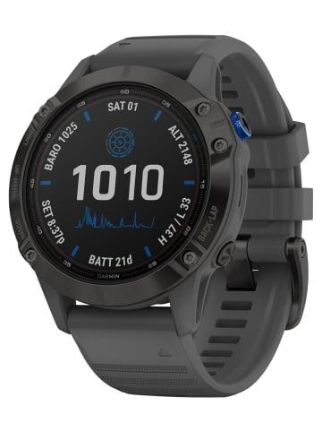 Garmin Fenix 6 Pro Solar Smartwatch Schiefergrau / Schwarz