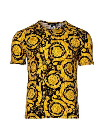 Versace T-Shirt 2er Pack in Schwarz/Gold