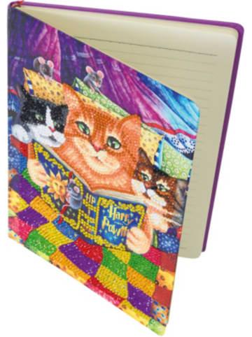 "CRAFT Buddy Notizbuch-Kit ""Kätzchen Gute-Nacht-Geschichten"" Kristall-Kunst"