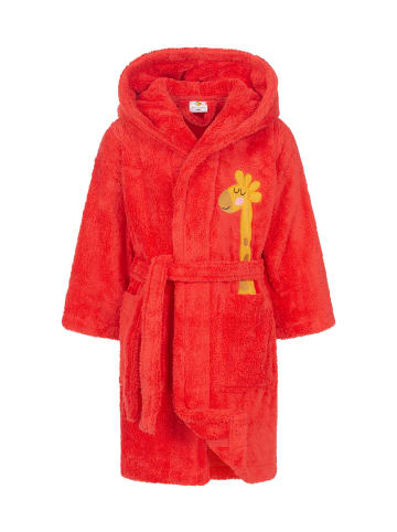 JP Company Kinderbademantel mit Kapuze in Rot