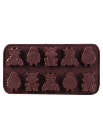 Dr. Oetker Silikon-Schokoladenformen Kleine Farm, 10 St. Confiserie