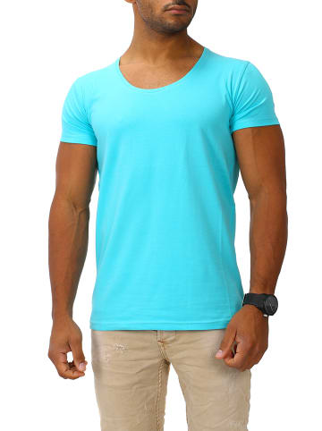 Joe Franks Joe Franks Joe Franks Herren Basic T-Shirts Round DEEP in turquoise