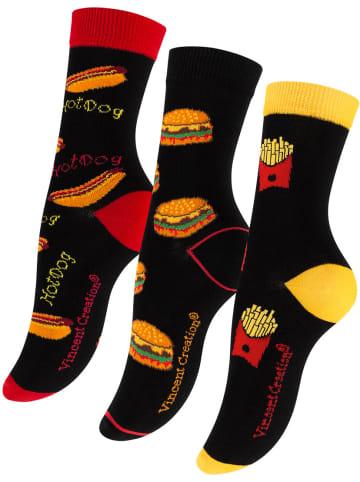 Vincent Creation® Socken - FAST FOOD 3 Paar in Bunt