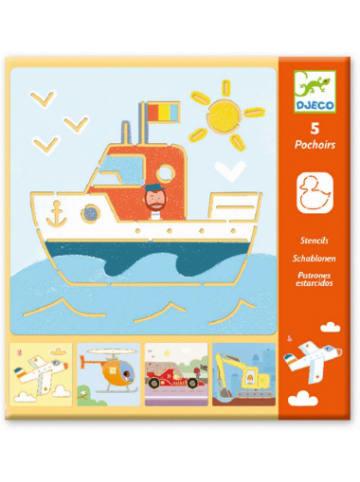 Djeco Schablonen - Transport & Co