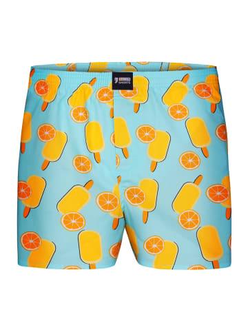 Happy Shorts Boxershorts Motive in Hellblau