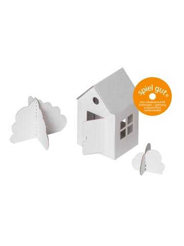 """Bibabox Pappspielzeug """"Das kleine Papphaus"""" in Weiß"""