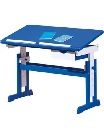 Inter Link ABC Schreibtisch TITJE, höhenverstellbar, blau/weiß