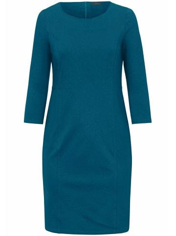EMILIA LAY Jersey-Kleid knitterarm in petrol
