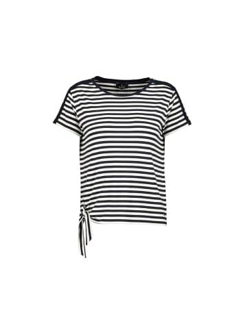 Monari Rundhals T-Shirt in schwarz