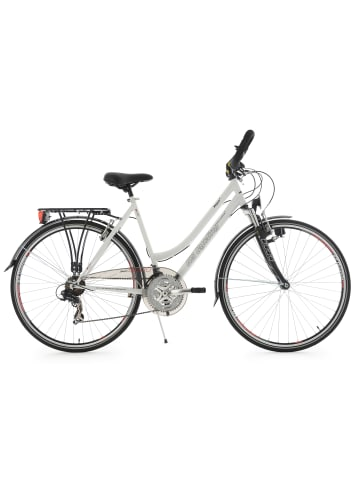 KS CYCLING Trekkingrad Damen 28'' Vegas Multipositionslenker in weiß