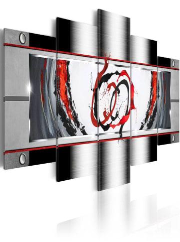 Artgeist Wandbild Breath of platinum in Schwarz,Rot,Grau