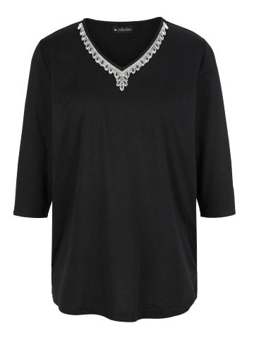 M. collection Shirt in Schwarz