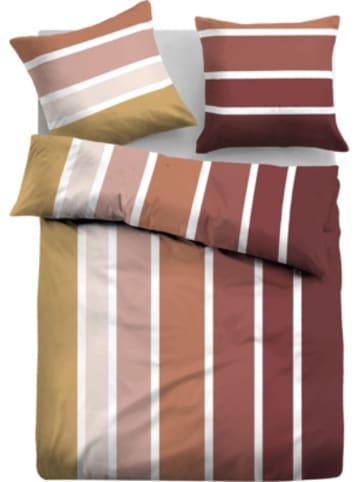 """Tom Tailor Flanell Bettwäsche """"Fresh Stripes"""" 135x200cm, mit Reißverschluss"""