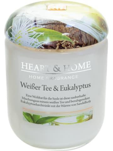 """HEART & HOME Kleine Duftkerze """"Weißer Tee & Eukalyptus"""", 115 g"""