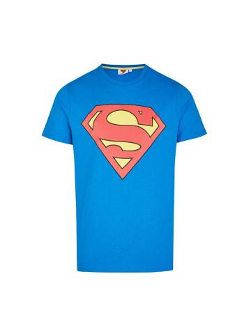 Course T-Shirt in blau