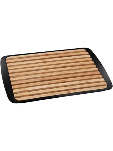 BRUNNER 2in1 Tablett & Schneidebrett in schwarz