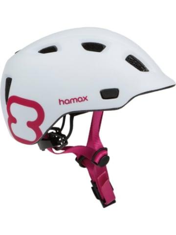 Hamax Fahrradhelm Thundercap WHITE/PINK 47-52 cm