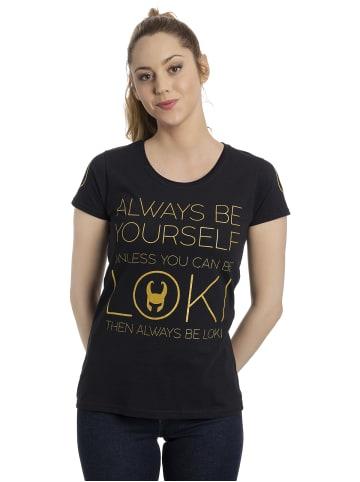 Marvel T-Shirt Always Gold in schwarz