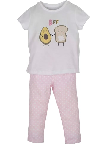 Mamino Kindermode Mädchen Schlafanzug -BFF in rosa