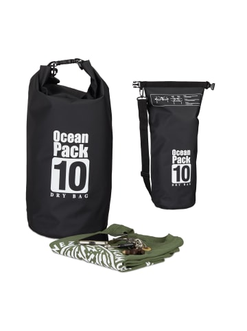 Relaxdays Ocean Pack in Schwarz - 10 l