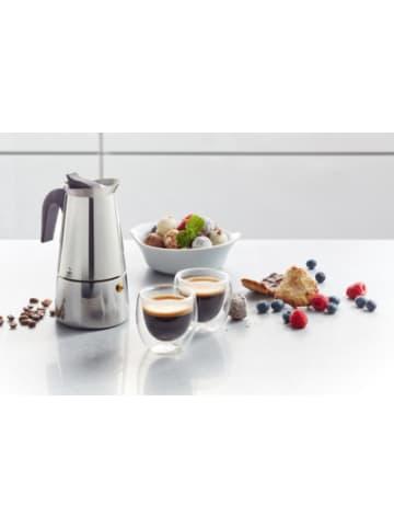 """GEFU 3-tlg. Espresso Set """"Emilio"""" mit Kocher und Gläser"""