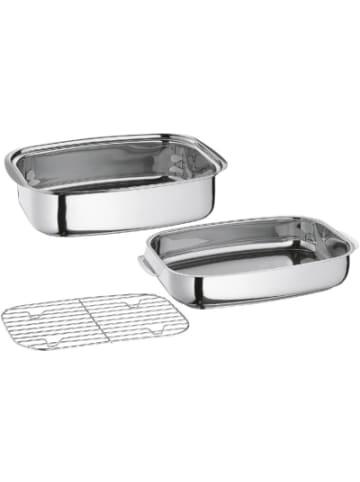 "Küchenprofi Edelstahl Multibräter ""Cook"", rechteckig, 43,4x27,3x16,2 cm"