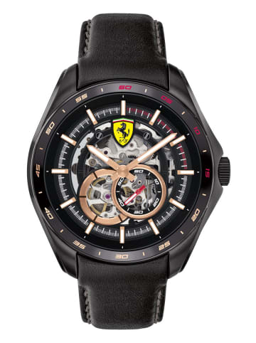 Scuderia Ferrari Analog Uhr 'Speedracer' in Schwarz/Schwarz