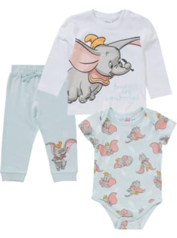 Disney Dumbo Disney Dumbo Baby Set Strampler + Langarmshirt + Sweathose