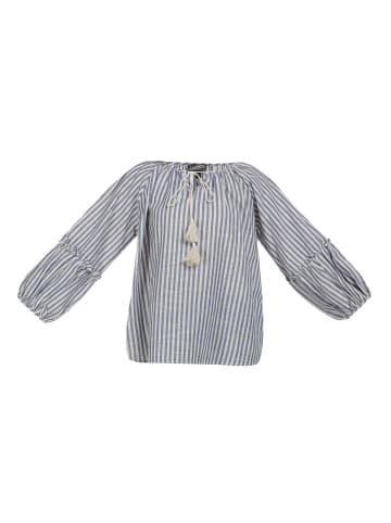 DreiMaster Vintage Bluse in Blau Weiss
