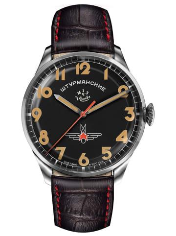 Sturmanskie Herrenuhr Gagarin Vintage Retro Schwarz / Braun / Silber