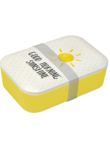 "Ppd Bambus Brotdose ""Good Morning Sunshine"", H6,5 x B19,8 x T12,8 cm"