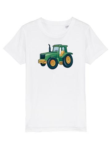 Wat? Apparel T-Shirt Tractor in Weiß