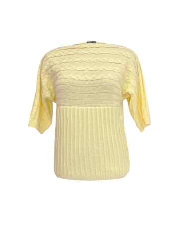 Wisell Strickpullover aus 100% Baumwolle in gelb