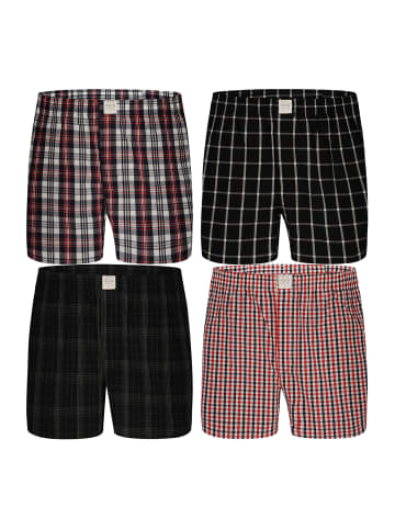 MG-1 Web-Boxershorts Classic Checks 4-Pack in mehrfarbig 1