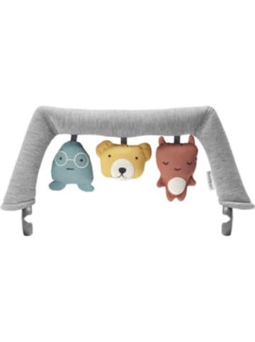 Babybjörn Spielzeug für Babywippe weiche Freunde, Grau