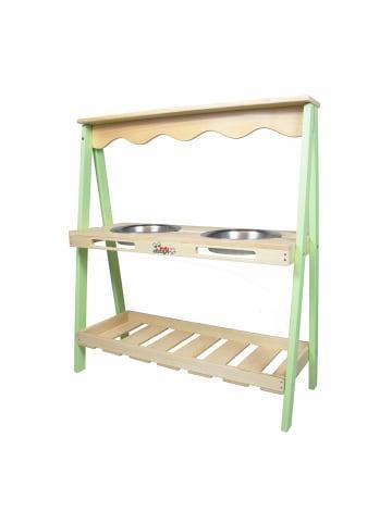 Edu dizayn Matschküche Twin aus Holz in grün, holz