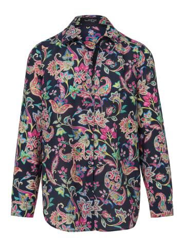 LOOXENT Bluse mit Hemdkragen in nachtblau/