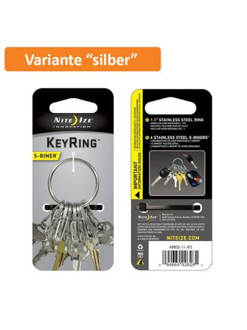 Nite Ize Schlüsselring KeyRing Stahl in silber