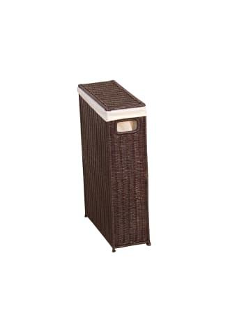 Möbel-direkt Raumspar-Wäschekorb Wäschekorb in Rattan dunkelbraun
